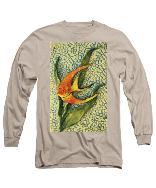 Long Sleeve T-Shirt featuring the photograph Aquarium On The Wall by Itzhak Richter