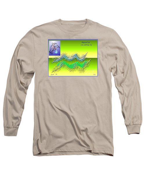 Long Sleeve T-Shirt featuring the digital art Aquarius By Alice Terrill And Will Baumol by The Art of Alice Terrill