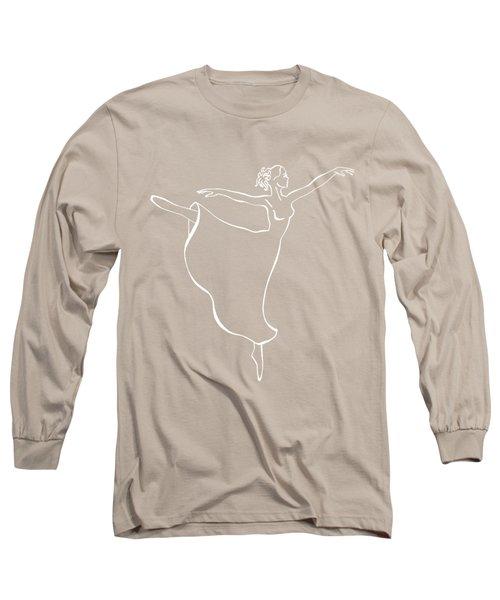 Arabesque Ballerina Long Sleeve T-Shirt