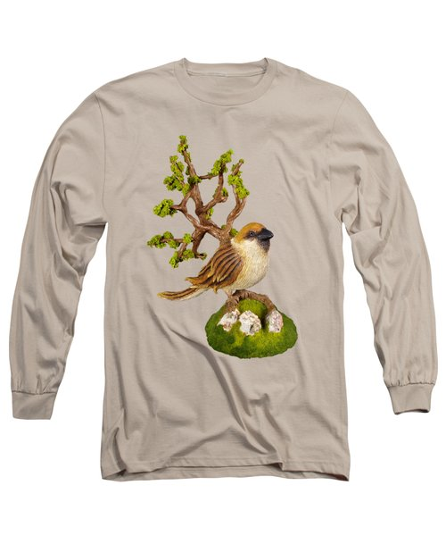 Arborescent Sparrow Long Sleeve T-Shirt by Przemyslaw Stanuch