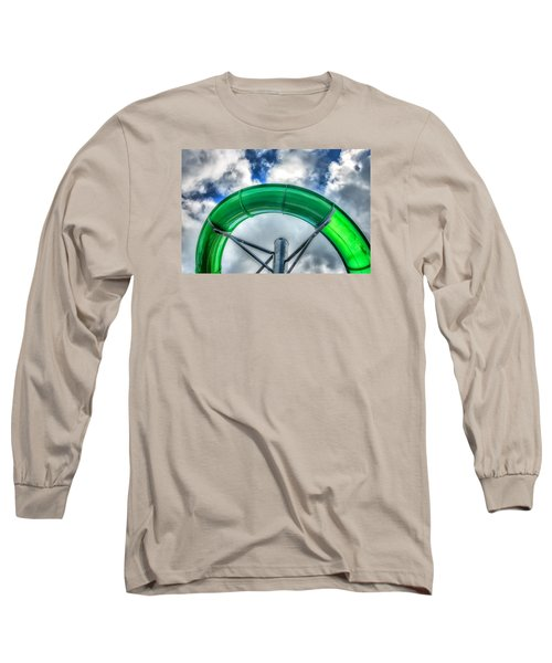 Long Sleeve T-Shirt featuring the photograph Arc Of The Water Slide by Gary Slawsky