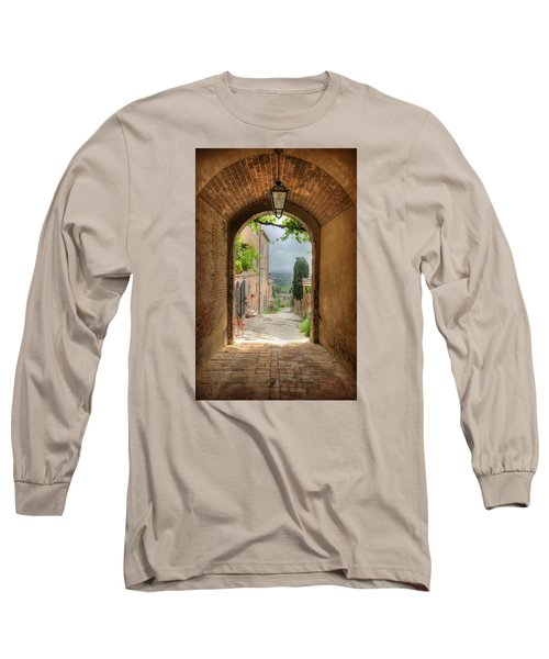 Arched View Long Sleeve T-Shirt by Uri Baruch