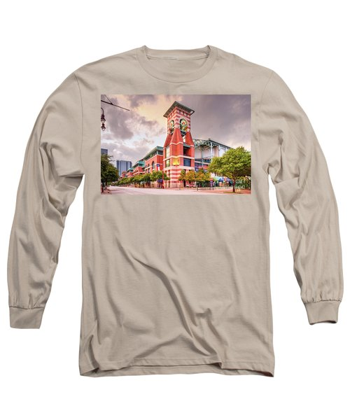Architectural Photograph Of Minute Maid Park Home Of The Astros - Downtown Houston Texas Long Sleeve T-Shirt