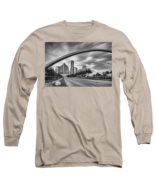 Architectural Photograph Of Post Oak Boulevard At Uptown Houston - Texas Long Sleeve T-Shirt
