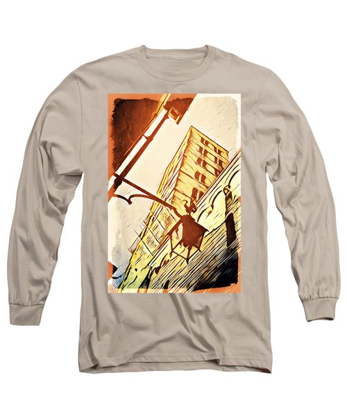 Long Sleeve T-Shirt featuring the digital art Arezzo's Tower by Andrea Barbieri