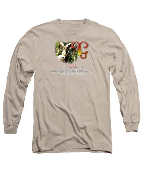 Aries Sun Sign Long Sleeve T-Shirt
