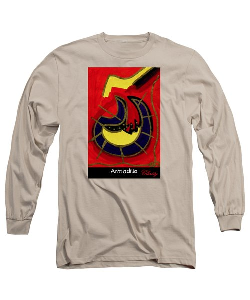 Armadillo Long Sleeve T-Shirt by Clarity Artists