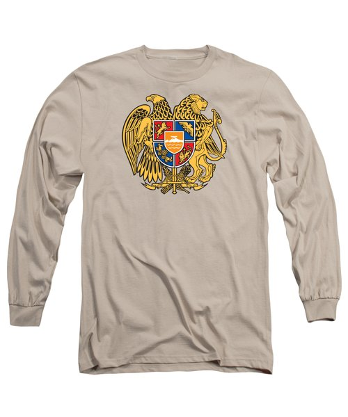 Long Sleeve T-Shirt featuring the drawing Armenia Coat Of Arms by Movie Poster Prints