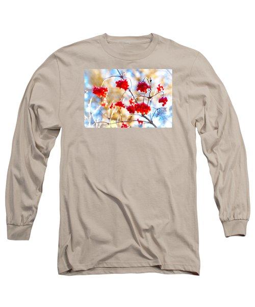 Long Sleeve T-Shirt featuring the photograph Arrowwood Berries by Alexander Senin