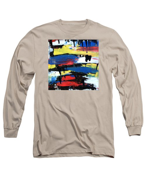 Art Abstract Painting Modern Black Long Sleeve T-Shirt