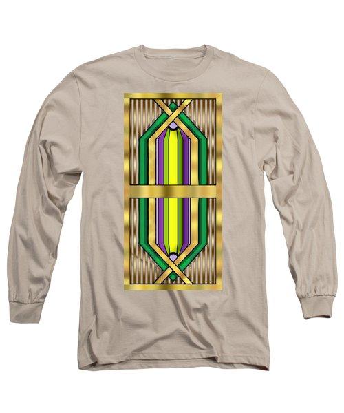 Art Deco 14 Vertical Long Sleeve T-Shirt