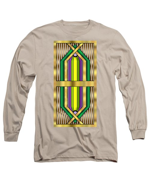 Art Deco 14 Vertical - Chuck Staley Long Sleeve T-Shirt by Chuck Staley