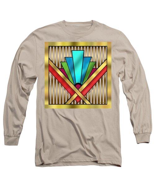 Art Deco 15 Transparent Long Sleeve T-Shirt by Chuck Staley