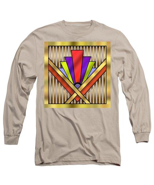 Art Deco 16 Transparent Long Sleeve T-Shirt by Chuck Staley
