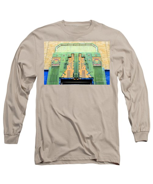 Art Deco Facade At Old Public Market Long Sleeve T-Shirt by Janette Boyd