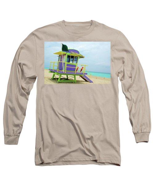 Art Deco Lifeguard Shack Long Sleeve T-Shirt