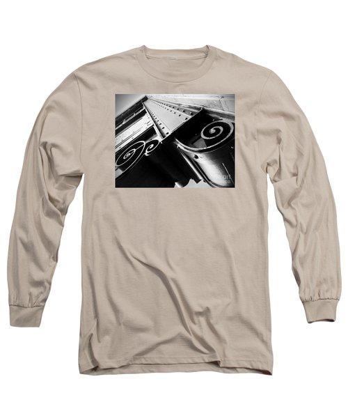 Art Deco Steel Long Sleeve T-Shirt by James Aiken