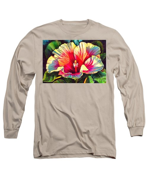 Art Floral Interior Design On Canvas Long Sleeve T-Shirt by Catherine Lott