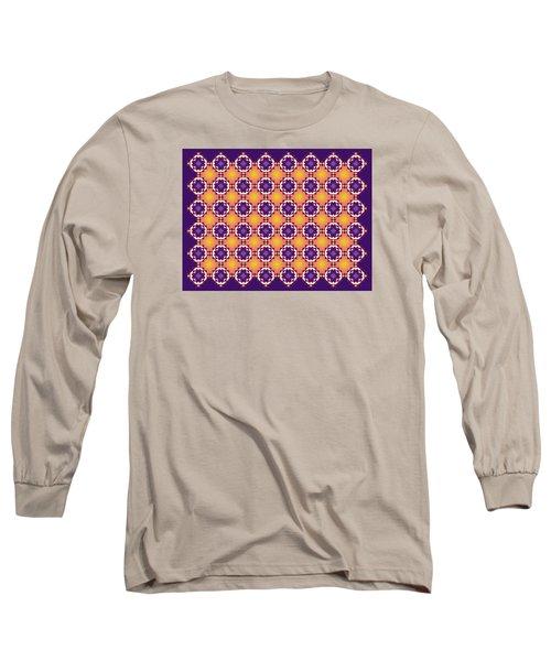 Art Matrix 001 A Long Sleeve T-Shirt by Larry Capra