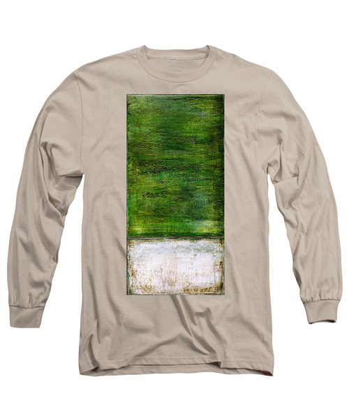 Art Print Green White Long Sleeve T-Shirt