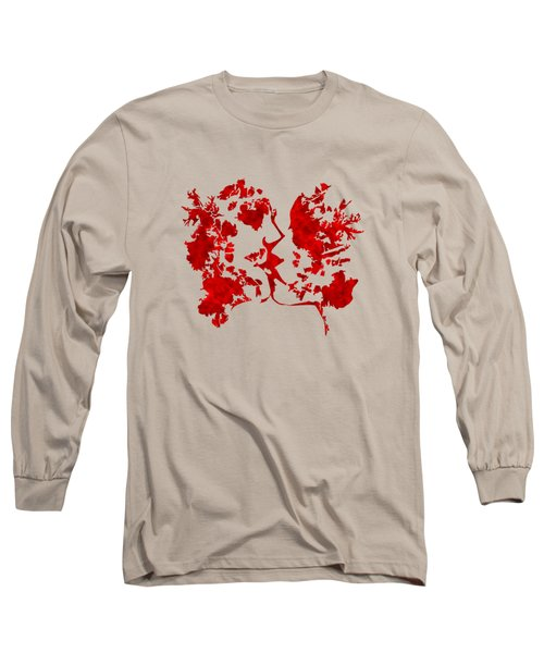 Art Watercolour Kiss Long Sleeve T-Shirt