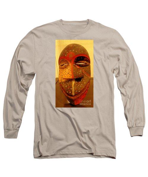 Artifact Mask Of Angola Long Sleeve T-Shirt by John Potts