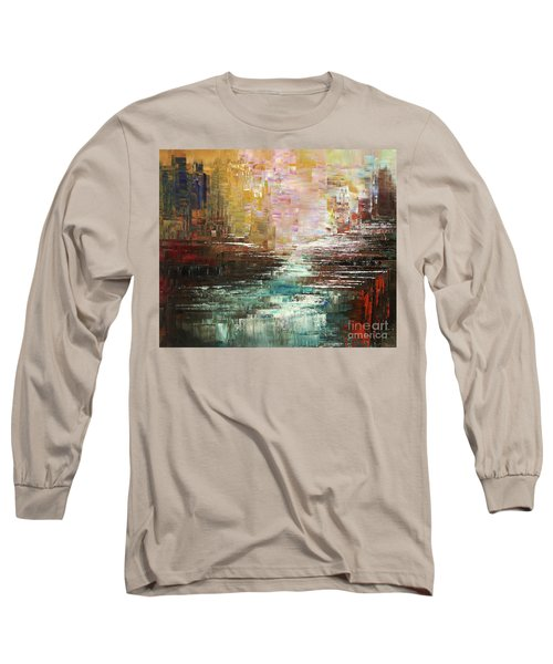 Long Sleeve T-Shirt featuring the painting Artist Whitewater by Tatiana Iliina