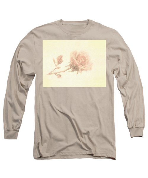 Long Sleeve T-Shirt featuring the photograph Artistic Etched Rose by Linda Phelps