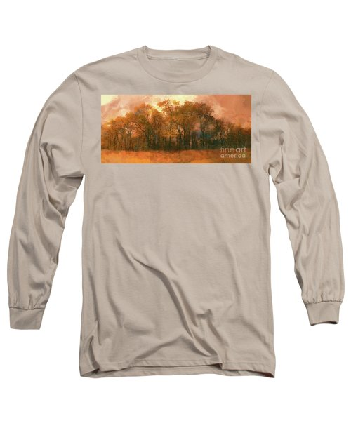 Long Sleeve T-Shirt featuring the photograph Artistic Fall Colors In The Blue Ridge Fx by Dan Carmichael