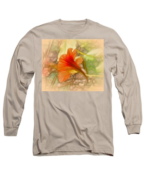 Artistic Red And Orange Long Sleeve T-Shirt by Leif Sohlman