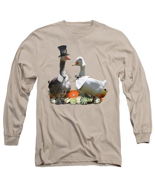 Thanksgiving Pilgrim Ducks Long Sleeve T-Shirt