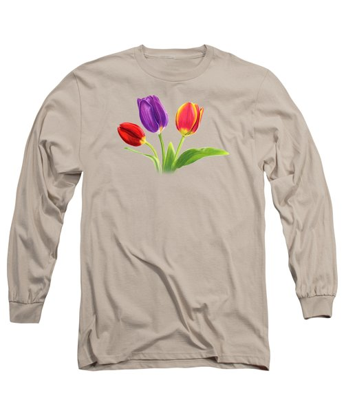 Tulip Trio Long Sleeve T-Shirt by Sarah Batalka