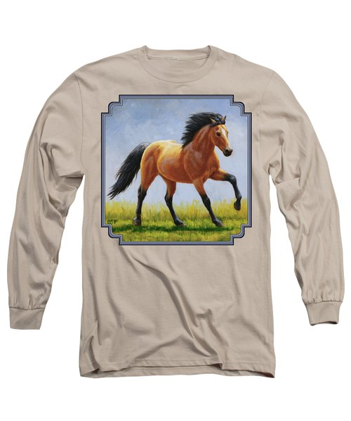 Buckskin Horse - Morning Run Long Sleeve T-Shirt