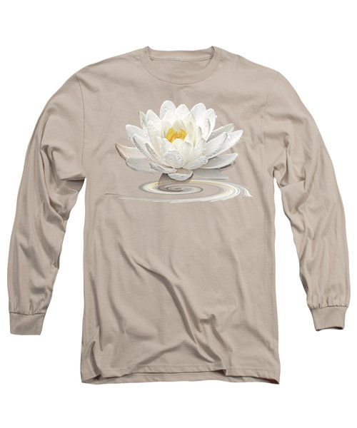 Inner Glow - White Water Lily Long Sleeve T-Shirt