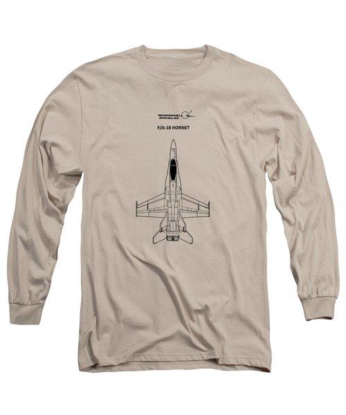 The F-18 Hornet Long Sleeve T-Shirt by Mark Rogan