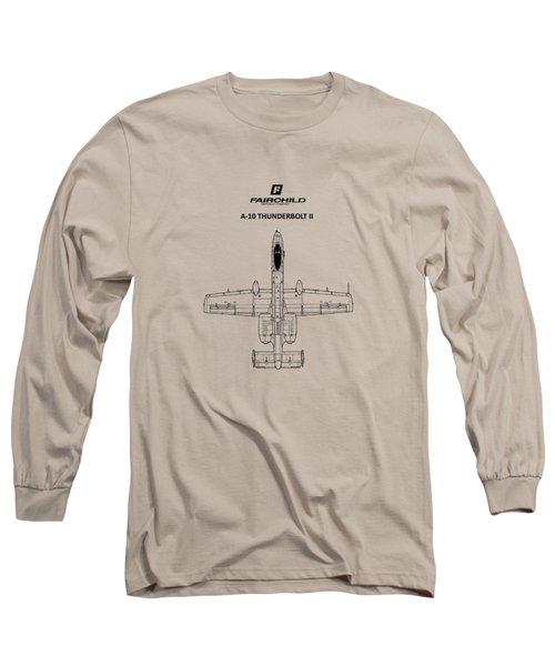 The A-10 Thunderbolt Long Sleeve T-Shirt by Mark Rogan