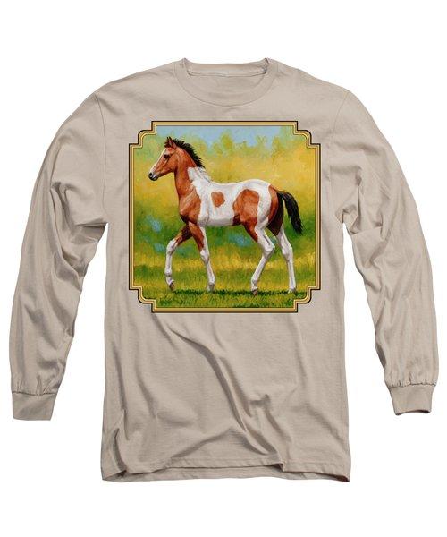 Bay Pinto Foal Long Sleeve T-Shirt