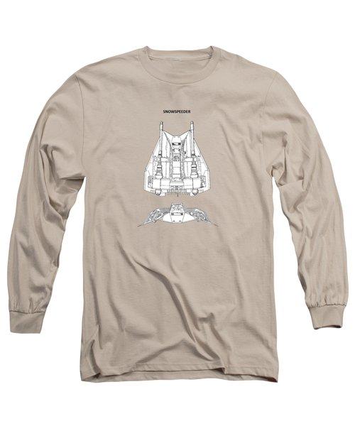 Star Wars - Snowspeeder Patent Long Sleeve T-Shirt by Mark Rogan