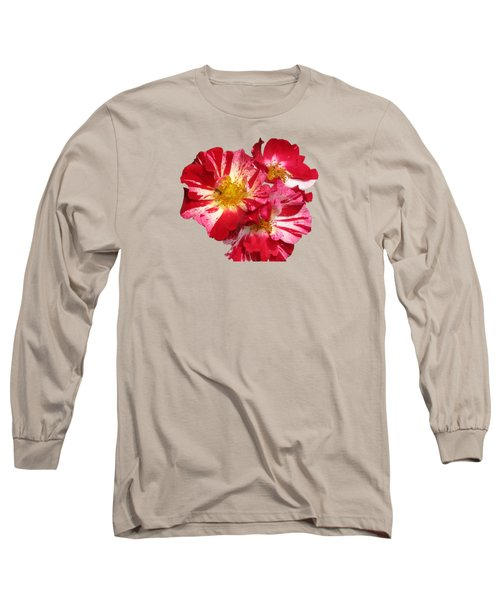 July 4th Rose Long Sleeve T-Shirt by M E Cieplinski