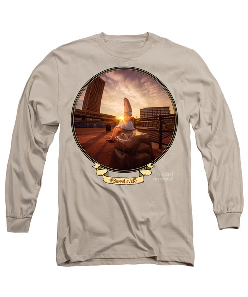 Shark Girl Dawn - Horizontal Long Sleeve T-Shirt