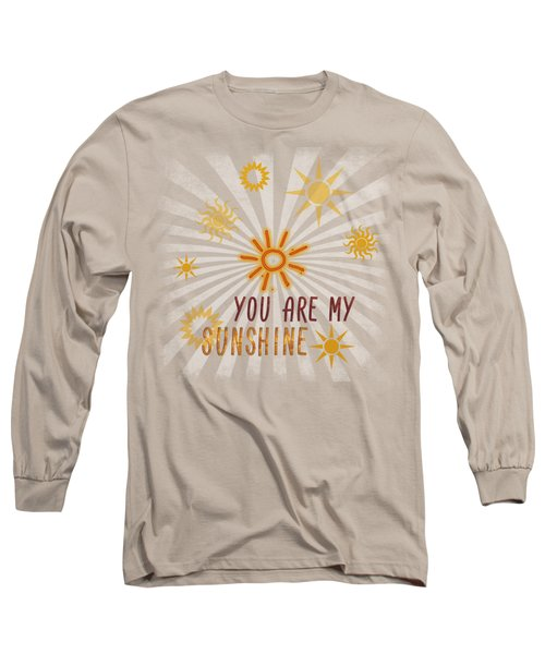 Long Sleeve T-Shirt featuring the digital art You Are My Sunshine by Jutta Maria Pusl