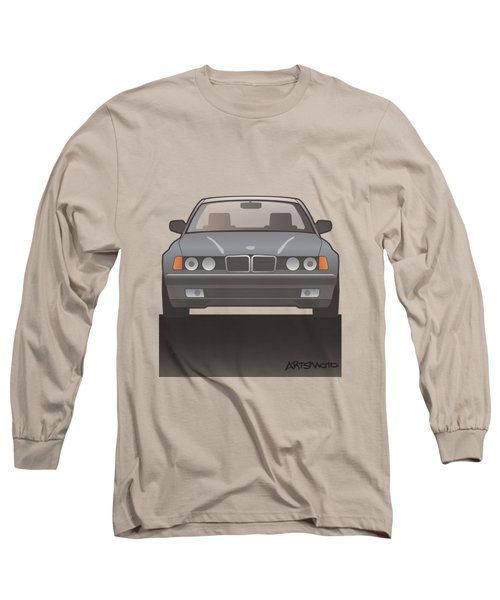 Modern Euro Icons Series Bmw E32 740i  Long Sleeve T-Shirt