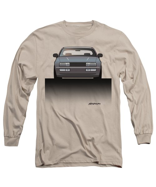 Modern Euro Icons Series Vw Corrado Vr6 Long Sleeve T-Shirt by Monkey Crisis On Mars