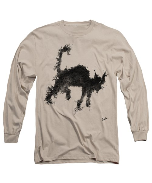 Long Sleeve T-Shirt featuring the painting Electricat by Marc Philippe Joly