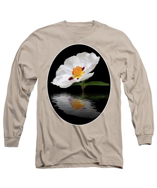 Long Sleeve T-Shirt featuring the photograph Cistus Reflections by Gill Billington