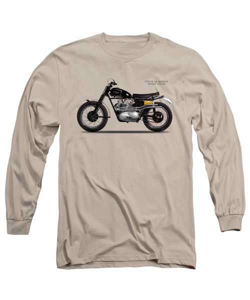 The Steve Mcqueen Desert Racer Long Sleeve T-Shirt by Mark Rogan