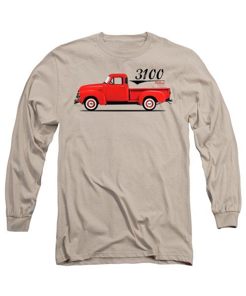 The 3100 Pickup Truck Long Sleeve T-Shirt by Mark Rogan