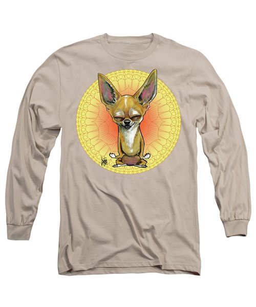 Meditating Chihuahua Long Sleeve T-Shirt