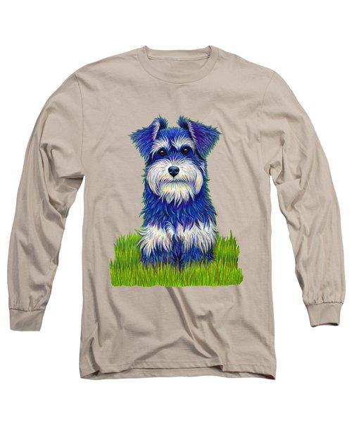 Colorful Miniature Schnauzer Dog Long Sleeve T-Shirt