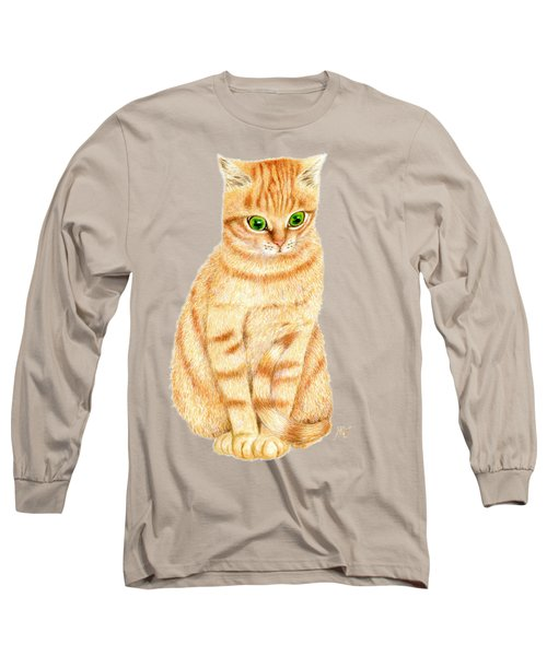 A Ginger Tabby Cat Long Sleeve T-Shirt